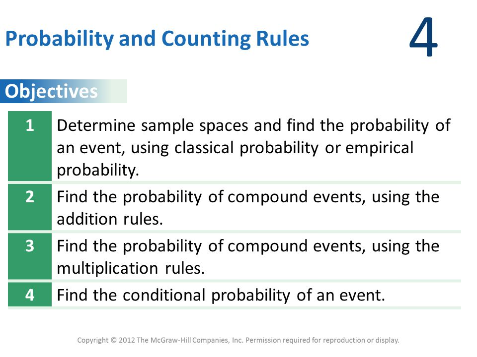 4 Probability and Counting Rules 1