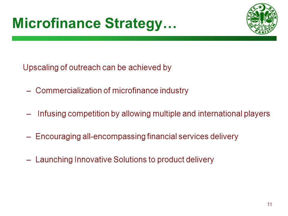Microfinance Strategy…