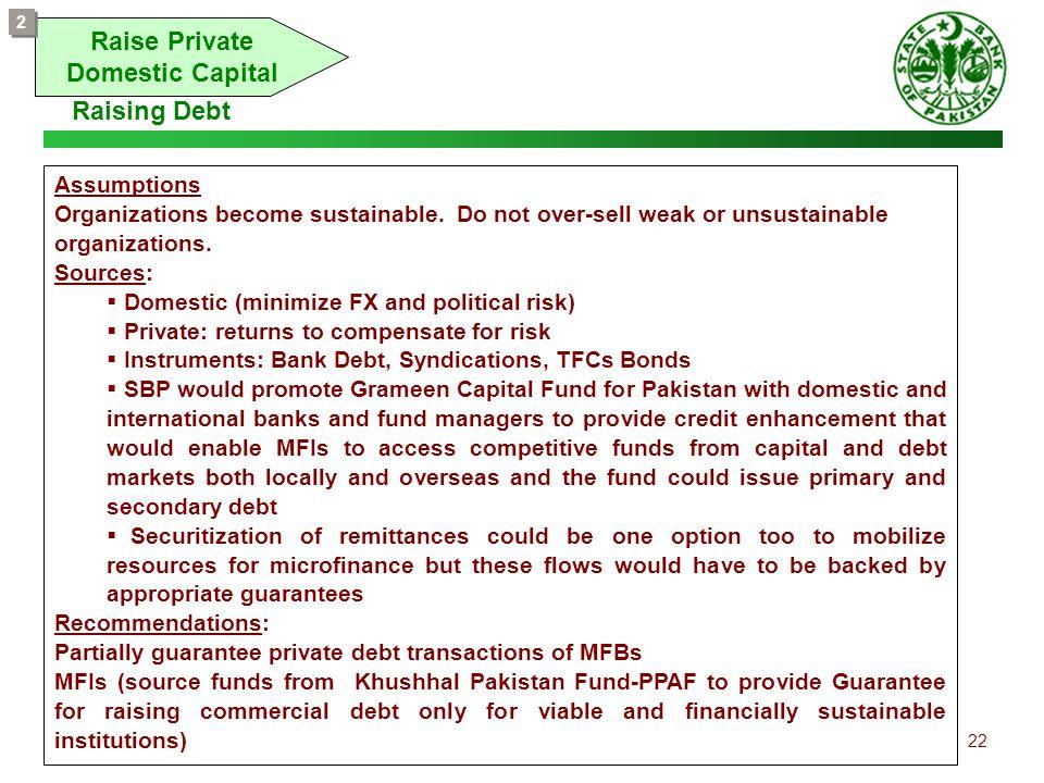 Raise Private Domestic Capital