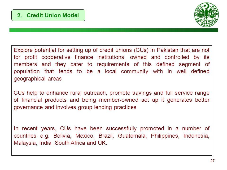 2. Credit Union Model