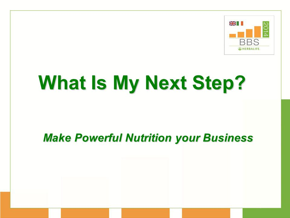 What Is My Next Step Make Powerful Nutrition your Business