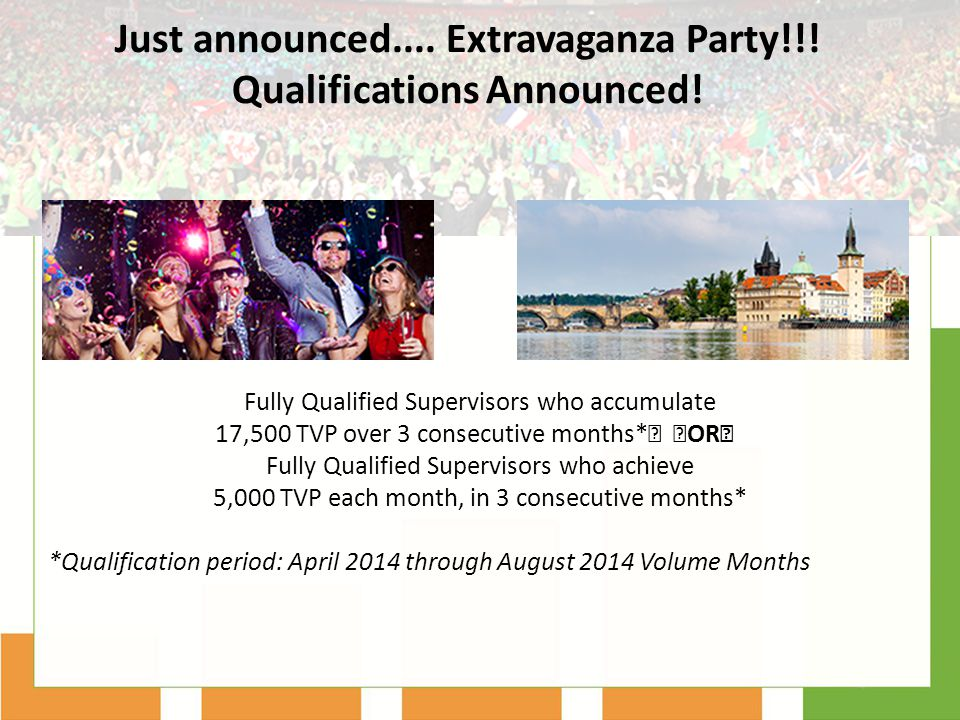 Just announced.... Extravaganza Party!!! Qualifications Announced!