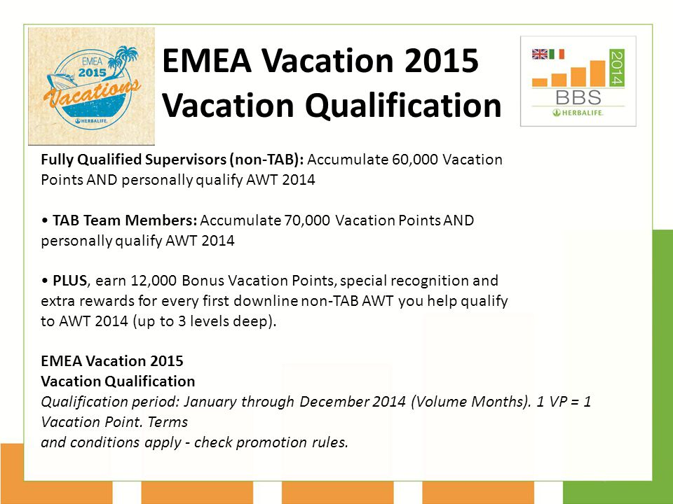 Vacation Qualification