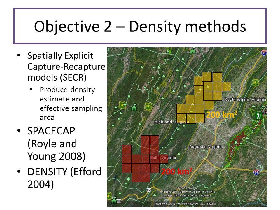 Objective 2 – Density methods