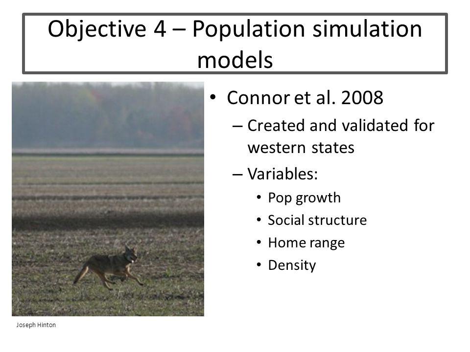 Objective 4 – Population simulation models