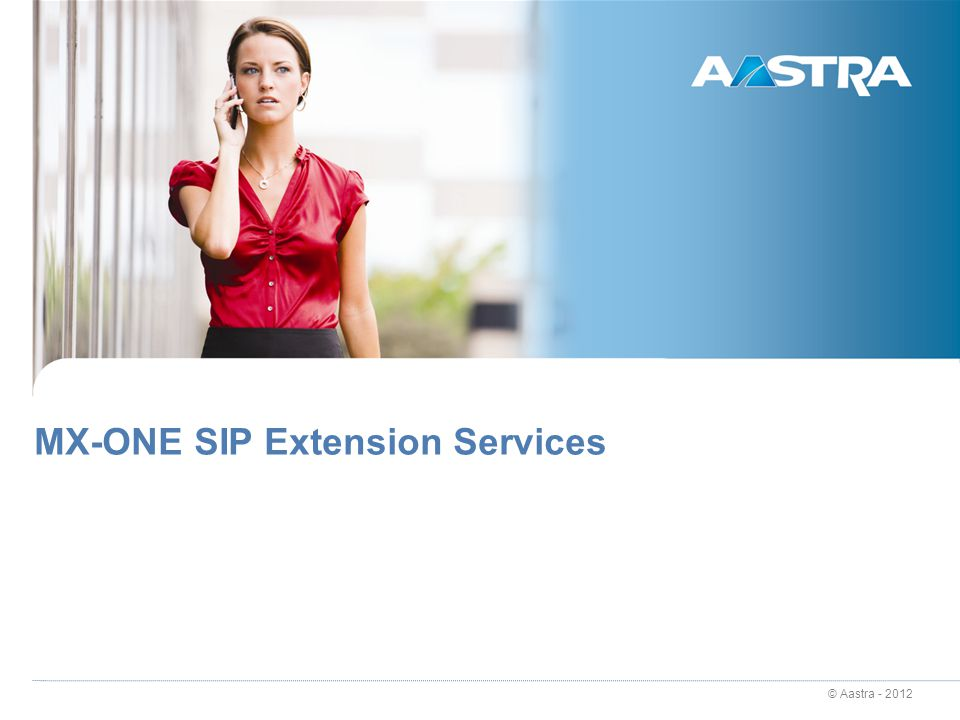 MX-ONE SIP Extension Services