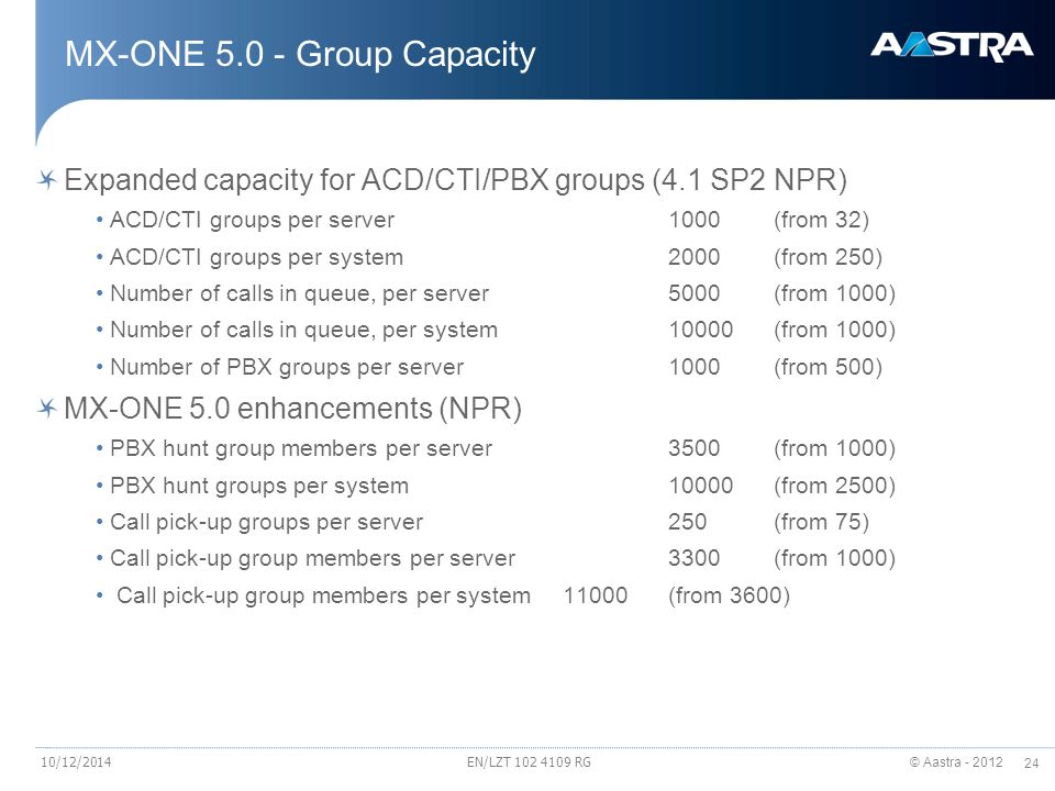 MX-ONE 5.0 - Group Capacity