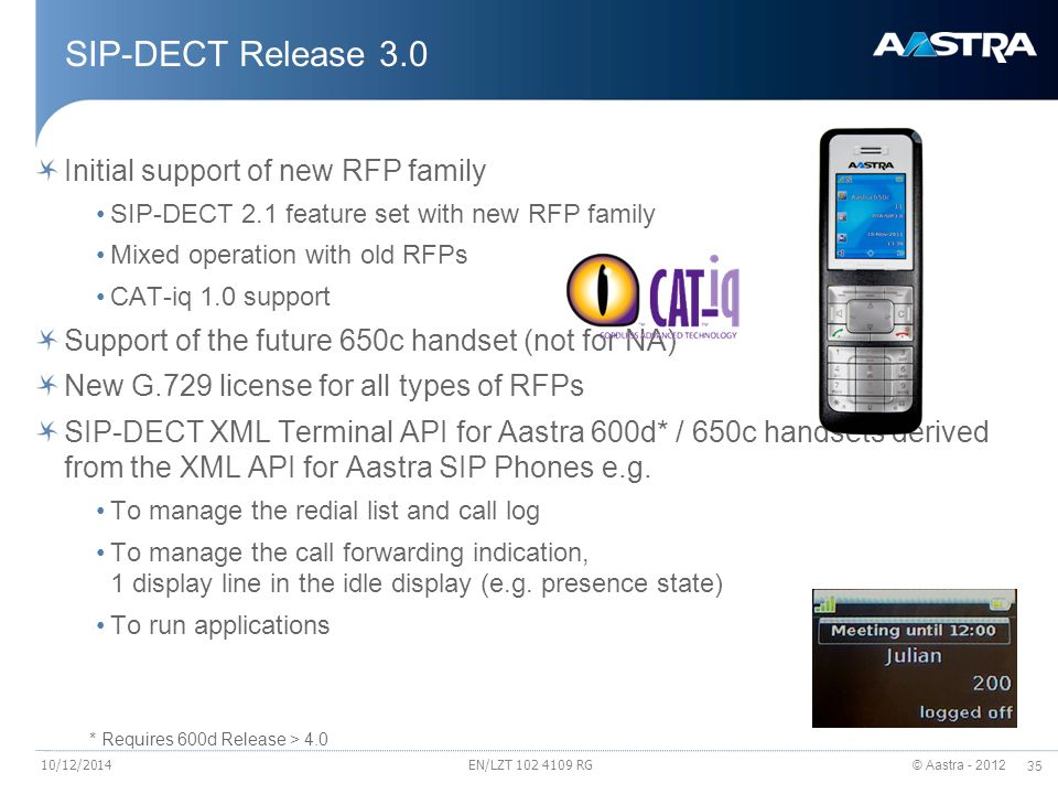 SIP-DECT Release 3.0 Initial support of new RFP family