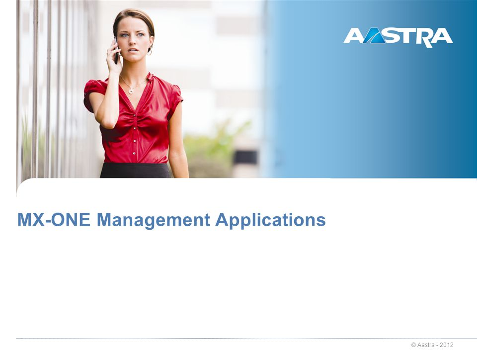 MX-ONE Management Applications
