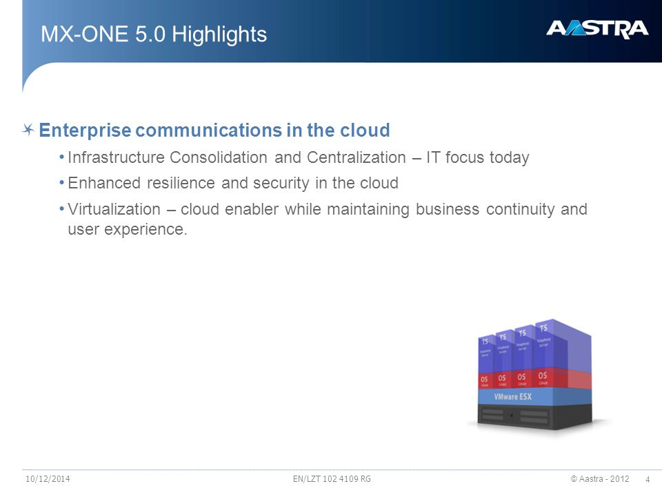 MX-ONE 5.0 Highlights Enterprise communications in the cloud