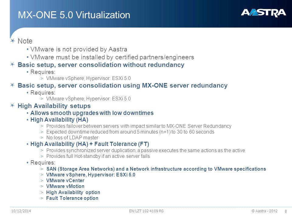 MX-ONE 5.0 Virtualization