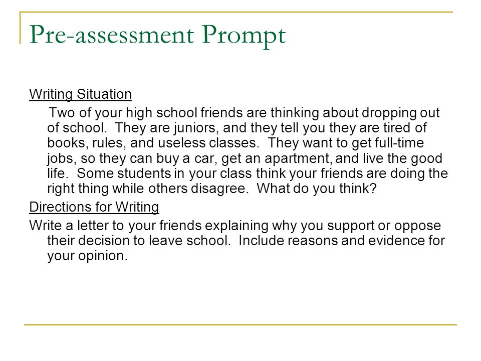 Pre-assessment Prompt