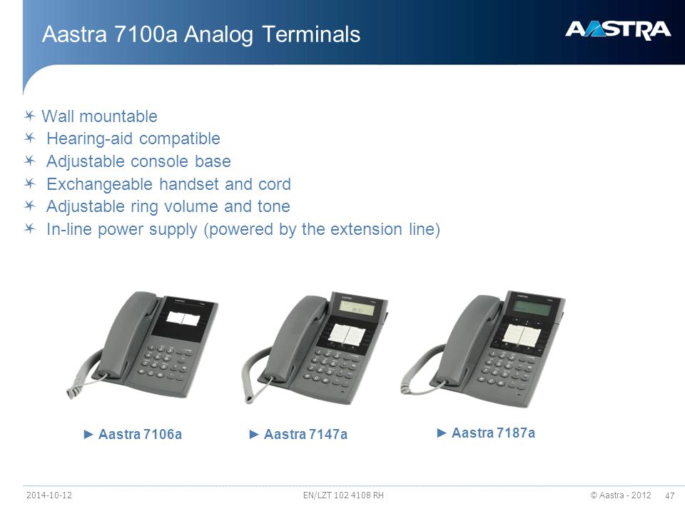 Aastra 7100a Analog Terminals