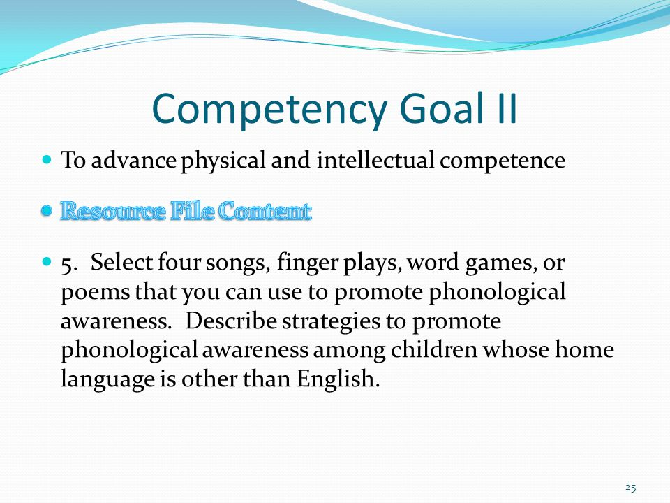 cda competency goal 2 activities that promote physical cognitive and creative development Competency goal ii: to advance physical and intellectual competence list 9 stimulating activities that promote physical, cognitive and creative development: 3 for young of 2 pictures books that deal with the human reproductive process.