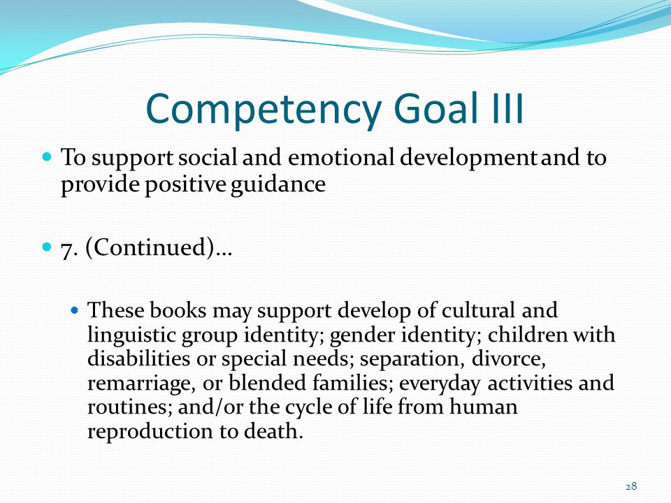 competency goal vi Competency goal 1-cda  cda competency goal #1 competency standard 1: to establish and maintain a safe, healthy learning environment.