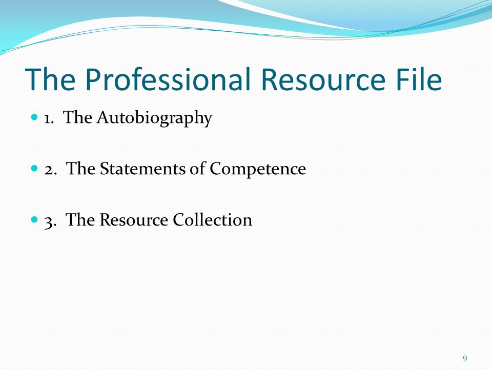 The Professional Resource File