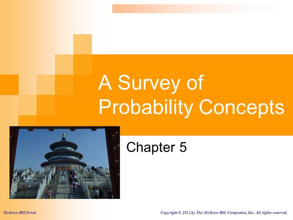 A Survey of Probability Concepts