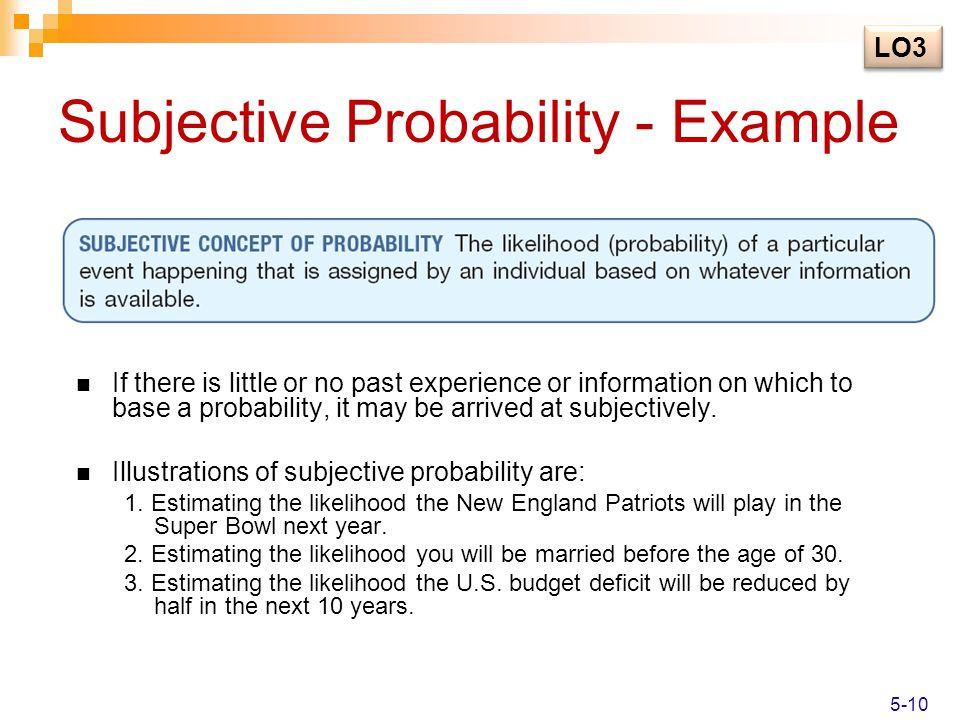 Subjective Probability - Example