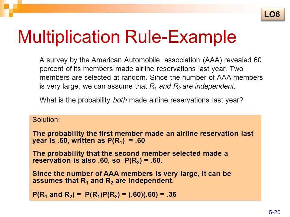Multiplication Rule-Example