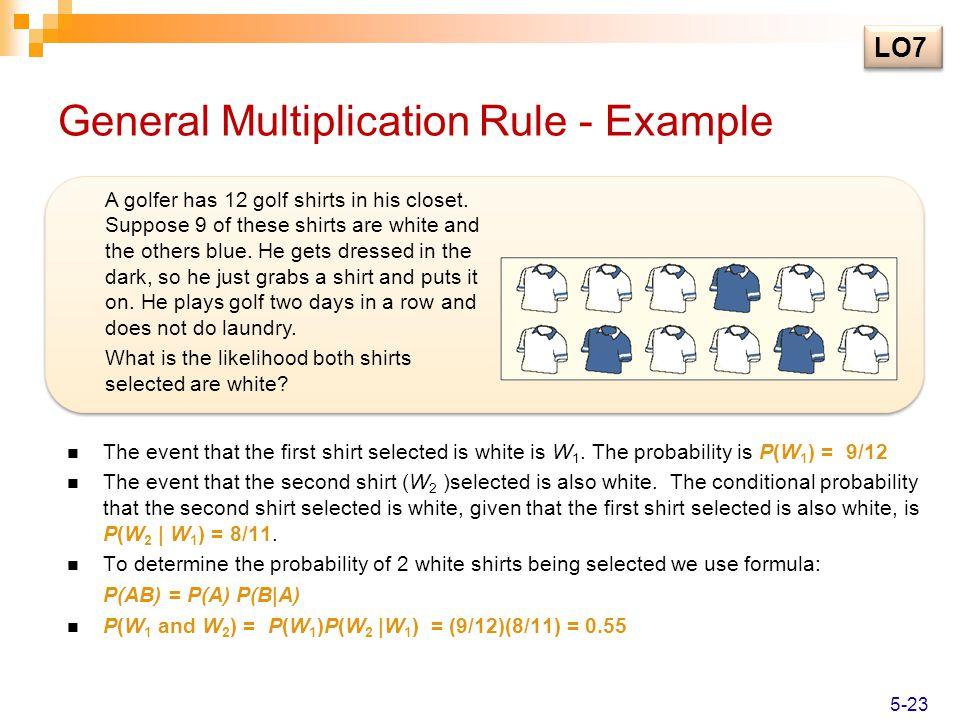 General Multiplication Rule - Example