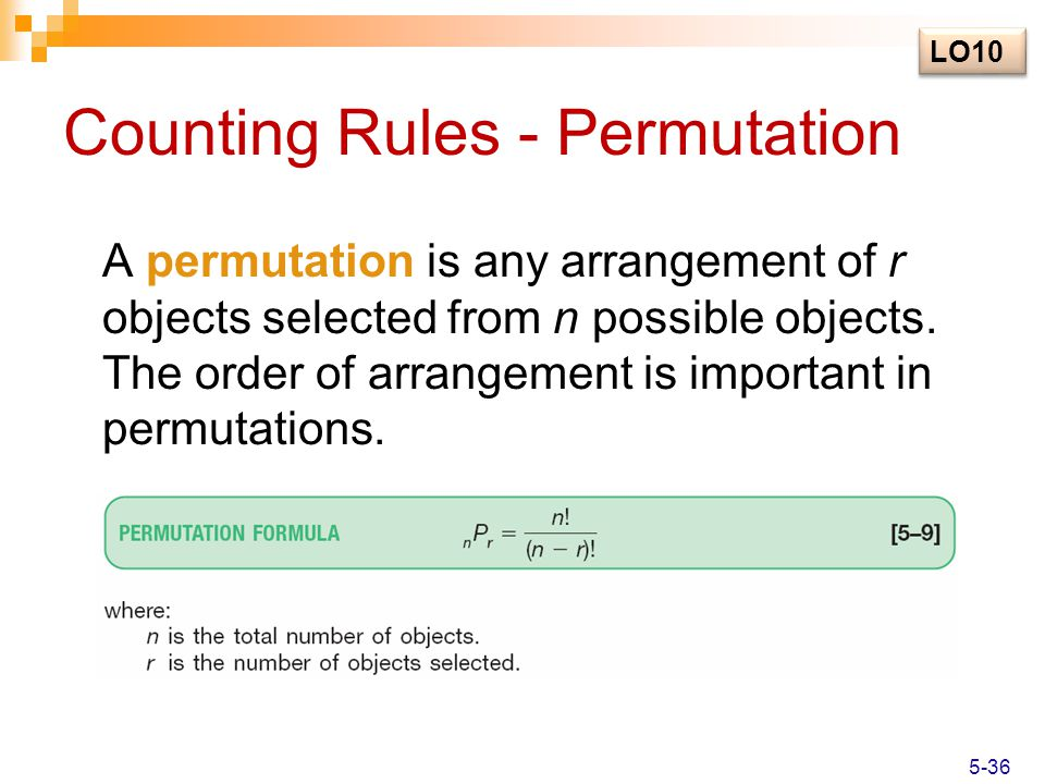 Counting Rules - Permutation