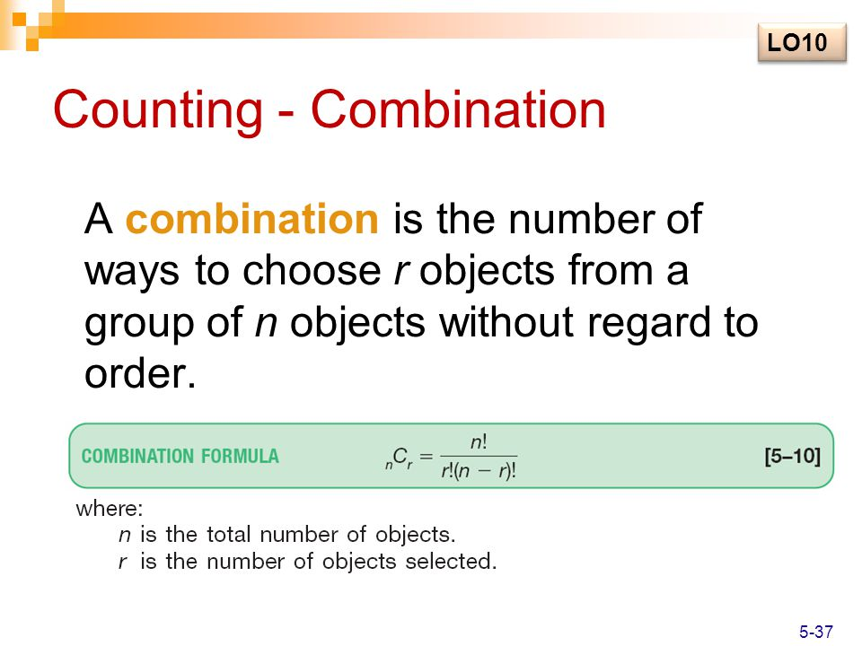 Counting - Combination