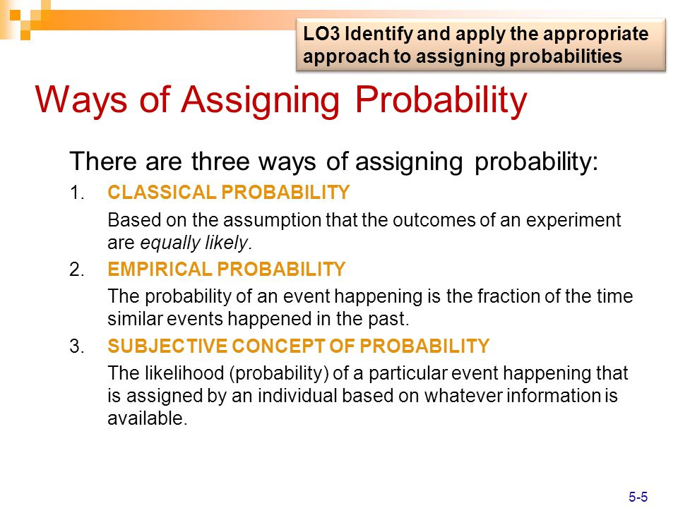 Ways of Assigning Probability