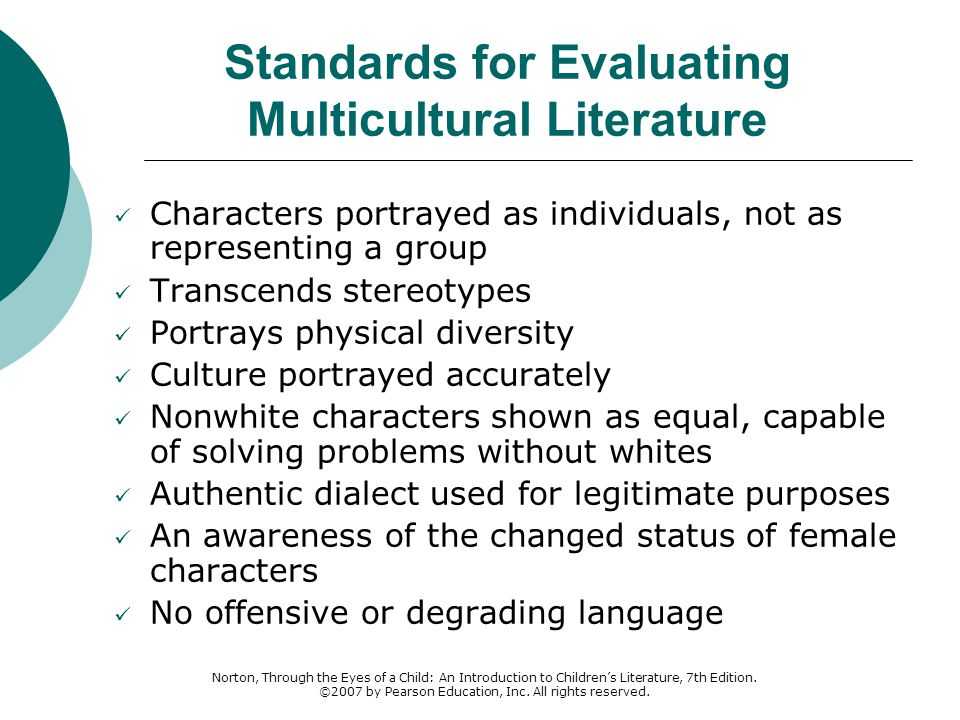 Standards for Evaluating Multicultural Literature
