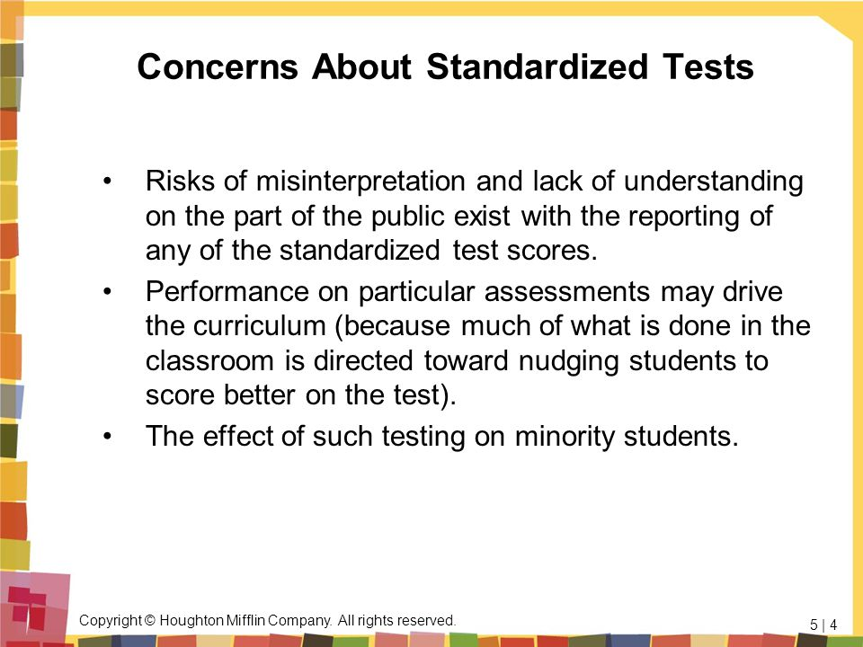 Concerns About Standardized Tests
