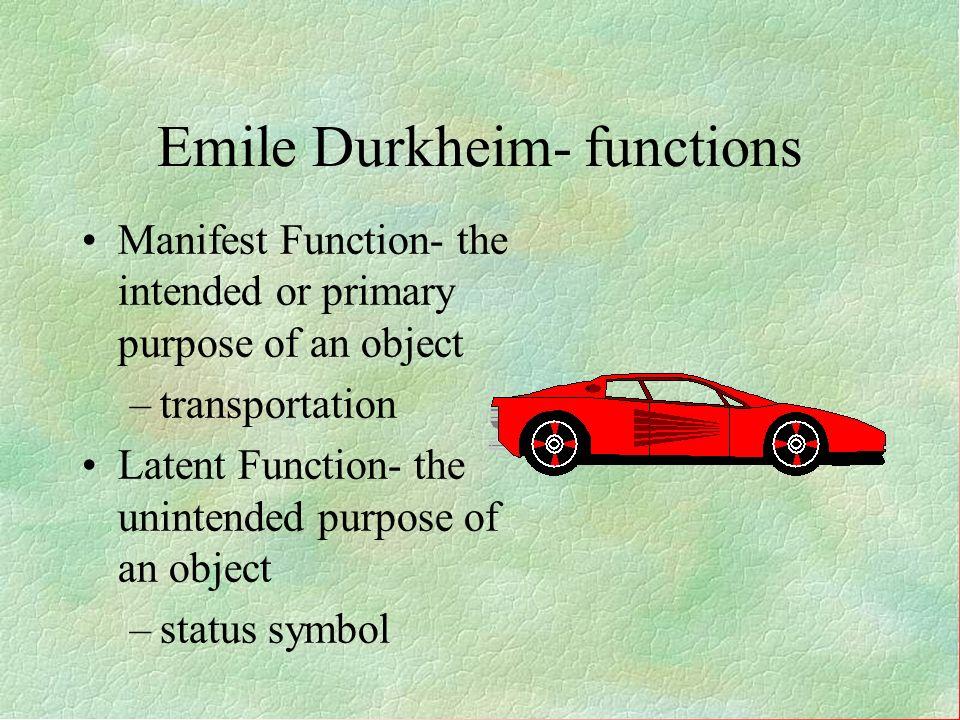 Emile Durkheim- functions