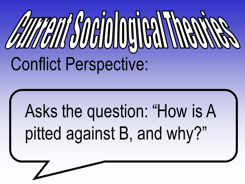 Current Sociological Theories