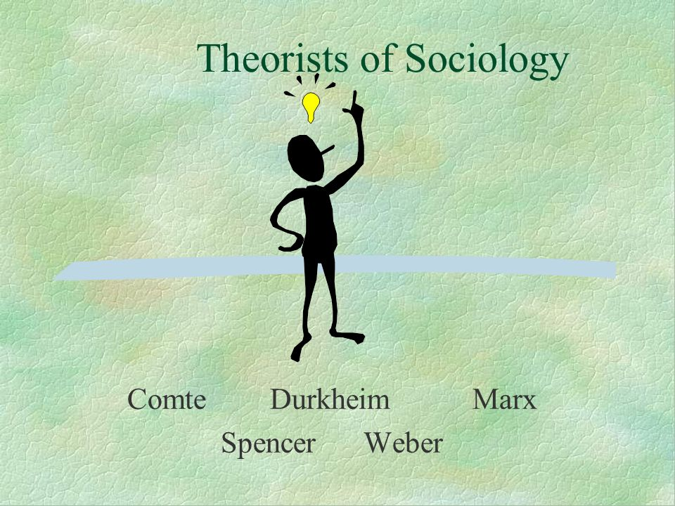 Theorists of Sociology