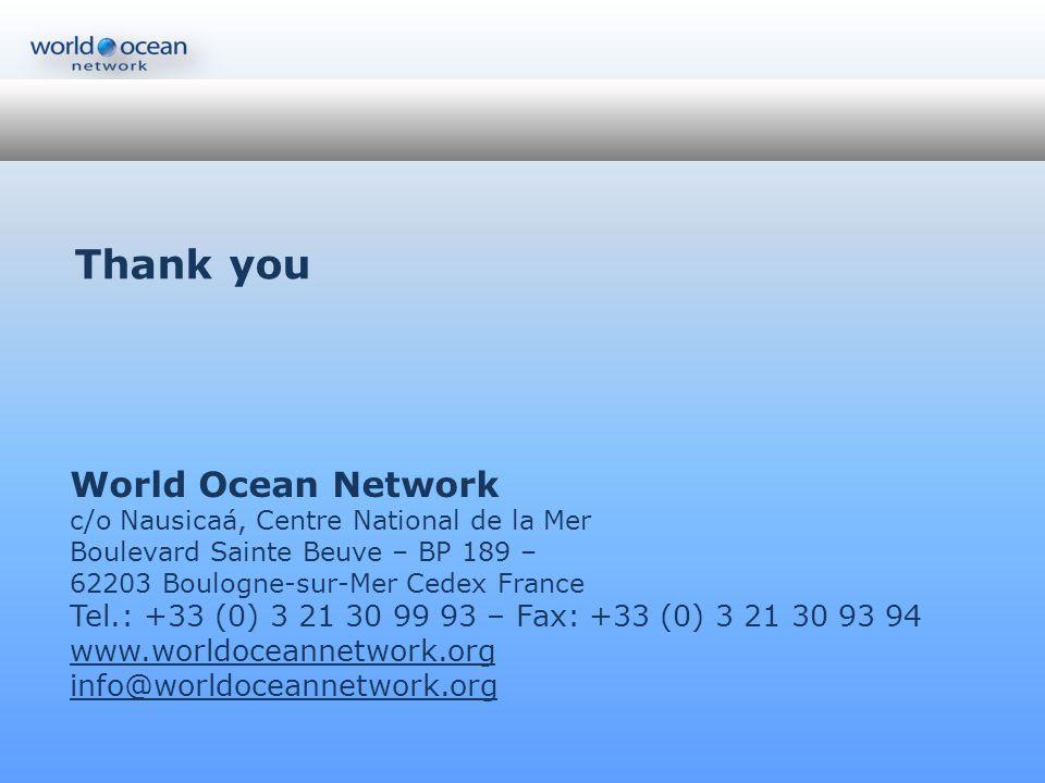 Thank you World Ocean Network