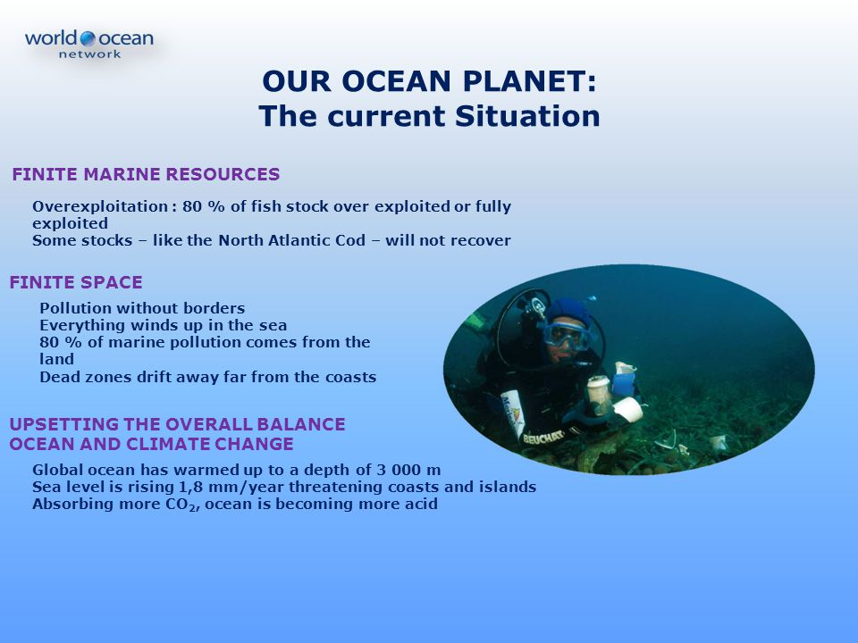 OUR OCEAN PLANET: The current Situation