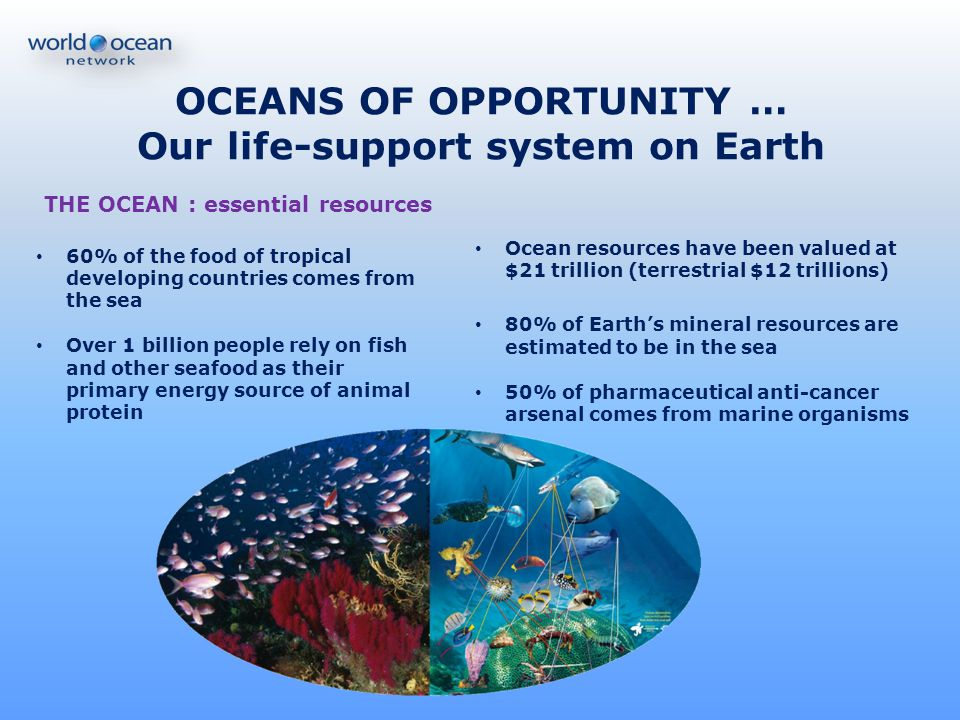 OCEANS OF OPPORTUNITY … Our life-support system on Earth