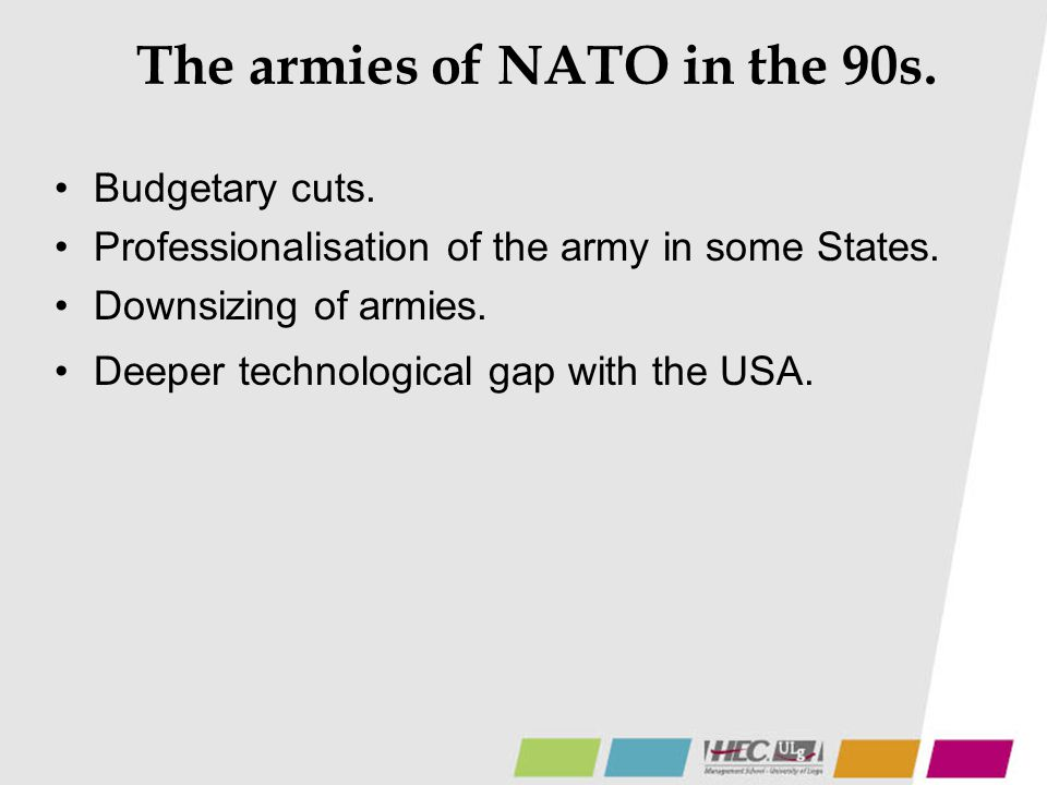 The armies of NATO in the 90s.