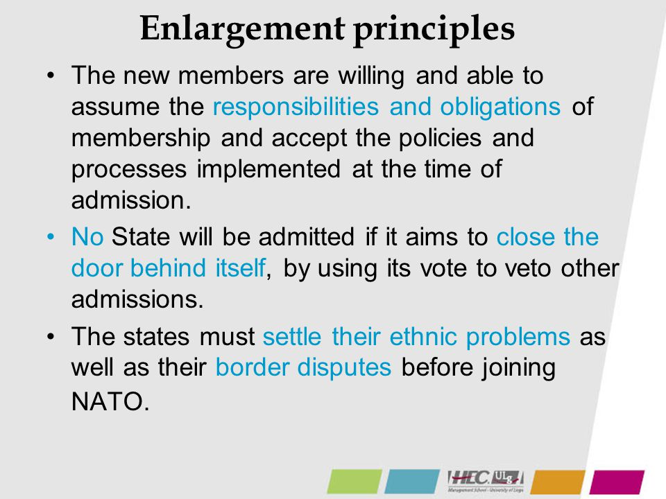 Enlargement principles