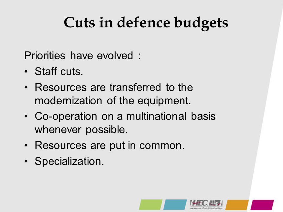 Cuts in defence budgets