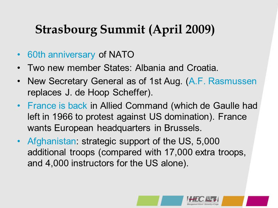 Strasbourg Summit (April 2009)