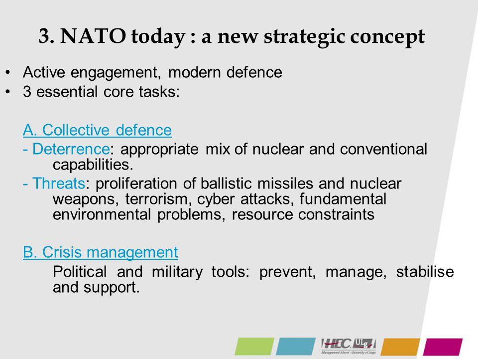 3. NATO today : a new strategic concept