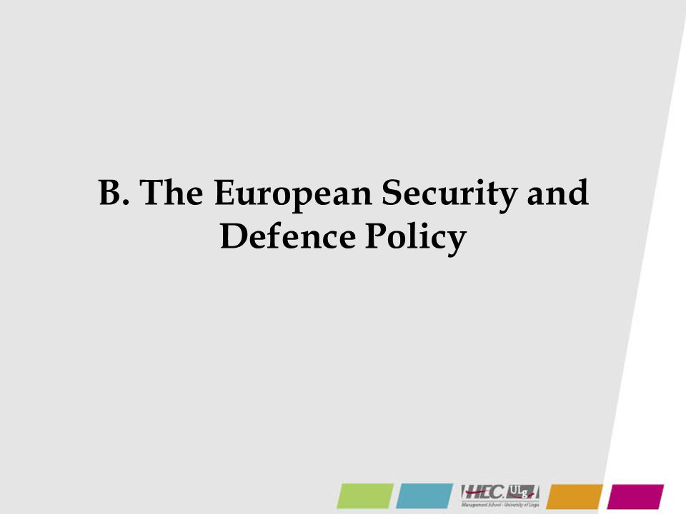 B. The European Security and Defence Policy