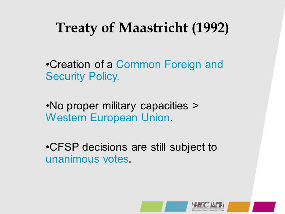 Treaty of Maastricht (1992)