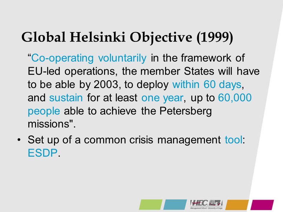 Global Helsinki Objective (1999)