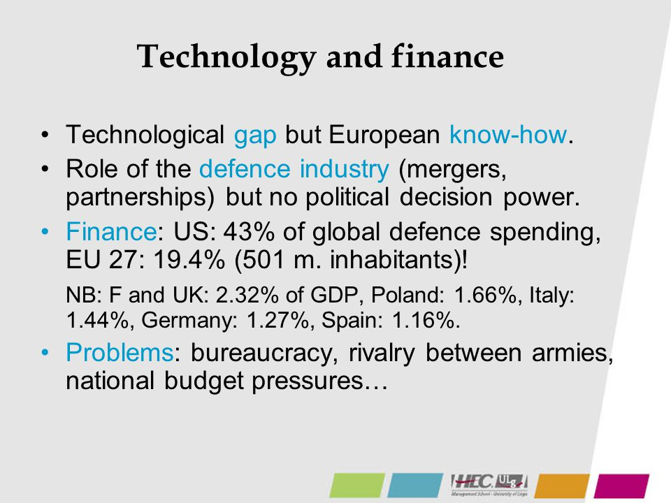 Technology and finance