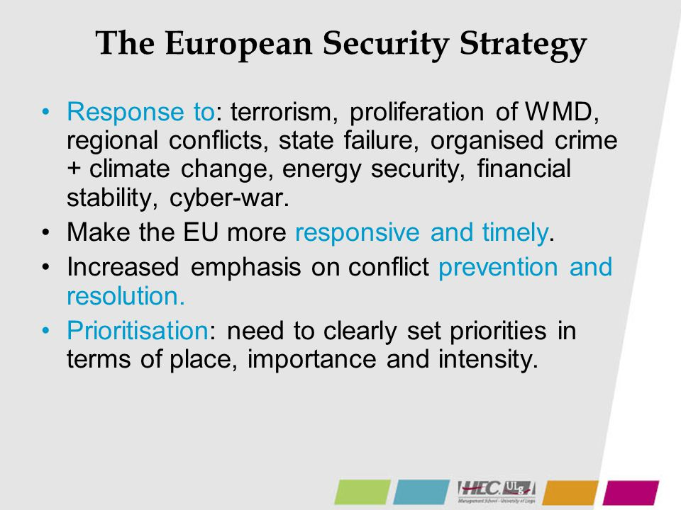 The European Security Strategy