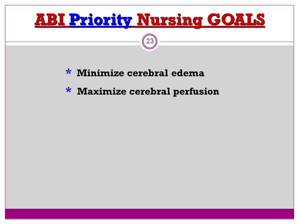 ABI Priority Nursing GOALS