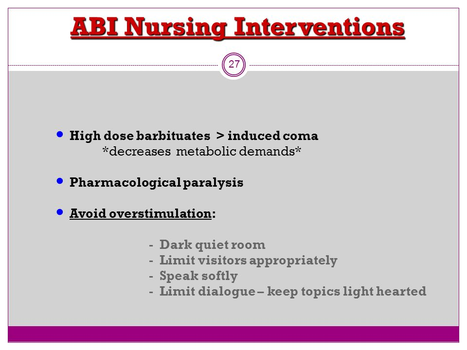 ABI Nursing Interventions