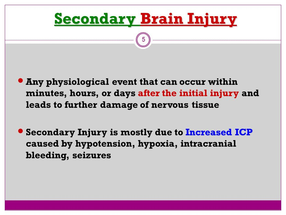 Secondary Brain Injury