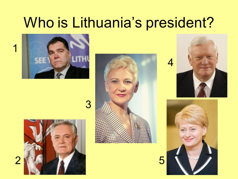 Who is Lithuania's president