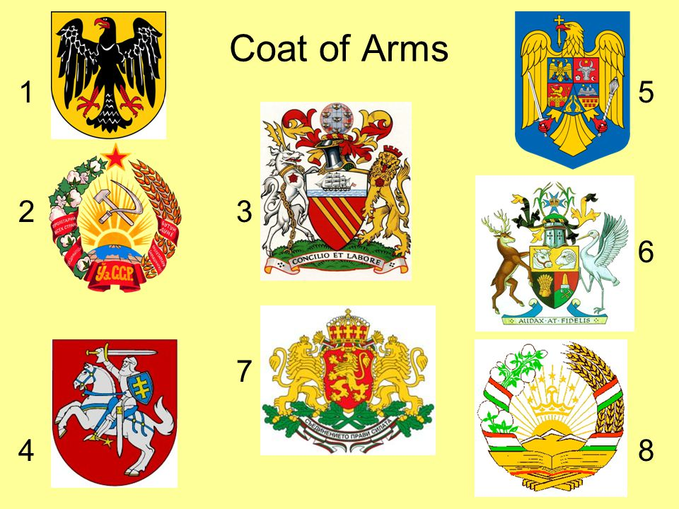 Coat of Arms 1 5. 2 3.